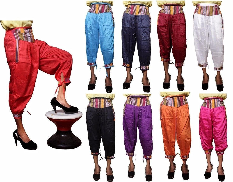 Amazingindiaonline 5pc Rayon Girls Capri Nepali Style Hippie Boho Harem  Pants Wholesale Lot: Amazon.co.uk: Clothing