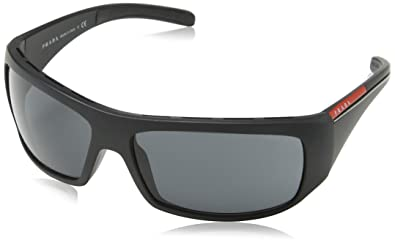 7daa3fc76b07 Amazon.com  Prada Sport PS01LS 1BO1A1 Sunglasses