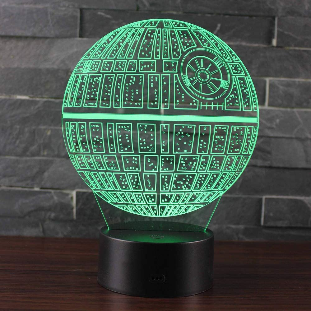 Leisu 3D Illusion Nuit Lumi/ère LED Bureau Table veilleuse Lampe 7 Couleur Tactile Lampe Bureau D/écor pour Chambre Chevet Table enfants Cadeau No/ël F/ête Anniversaire