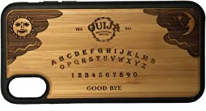 Ouija Board Phone Case Cover for iPhone Xs MAX by iMakeTheCase | Eco-Friendly Bamboo Wood Cover + TPU Wrapped Edges | Talking Spirit Board Game Psychic Medium Seance Ghost Dead.