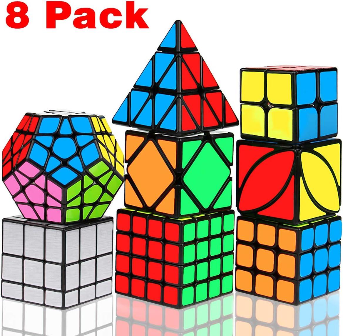 12 Pack Speed Cube Set Cube Bundle 2x2 3x3 Pyramid Megaminx Skew Cubes
