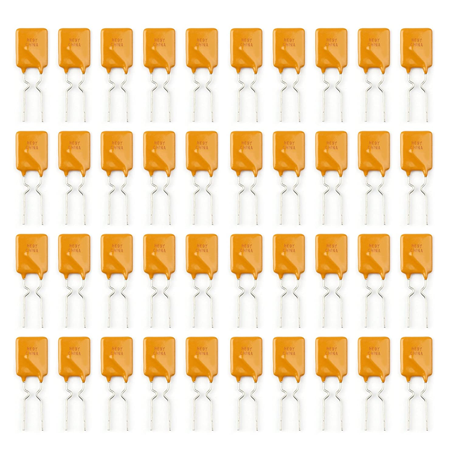 Areyourshop 40Pcs PTC Resettable Fuses Thermistor Polymer Self-Recovery Fuses 30V//1.85A