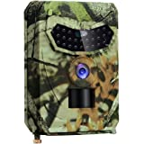 HD 1080P/12MP, Infrared LED Night Vision 10M/65FT, 0.5 S Triggering Time, IP56 Waterproof Hidden Hunting camera for Monitoring Wildlife trajectory and Home Security