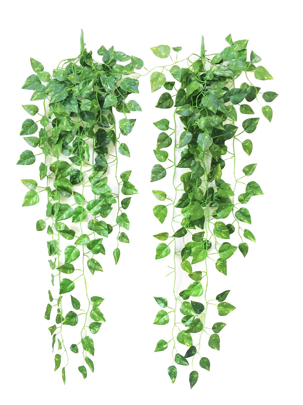 silk flower arrangements yatim 90 cm money ivy vine artificial plants greeny chain wall hanging leaves for home room garden wedding garland outside decoration pack of 2