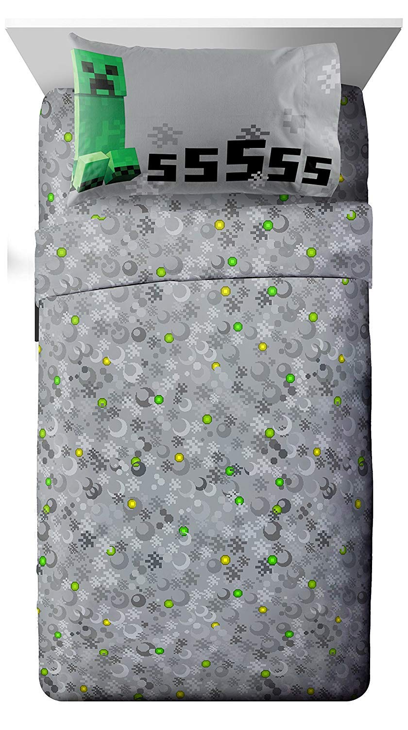 Jay Franco Mojang Minecraft Spawn Twin Sheet Set