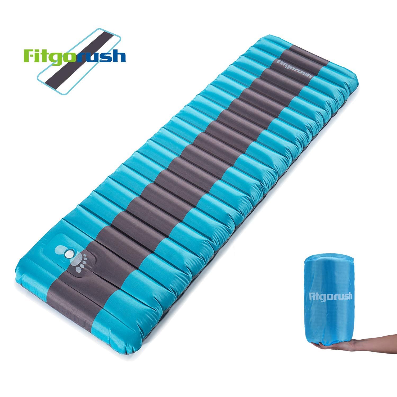 Fitgorush Colchón Inflable Esterilla de Acampada Hinchable Colchoneta de Aire Ergonómico Portátil Ultraligero para Viaje Camping