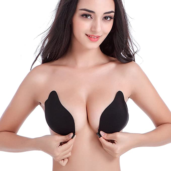 5a1c46e46f DGYAO Women s Strapless Invisible Sticky Push Up Adhesive Bra for Backless  Dress (Cup-A