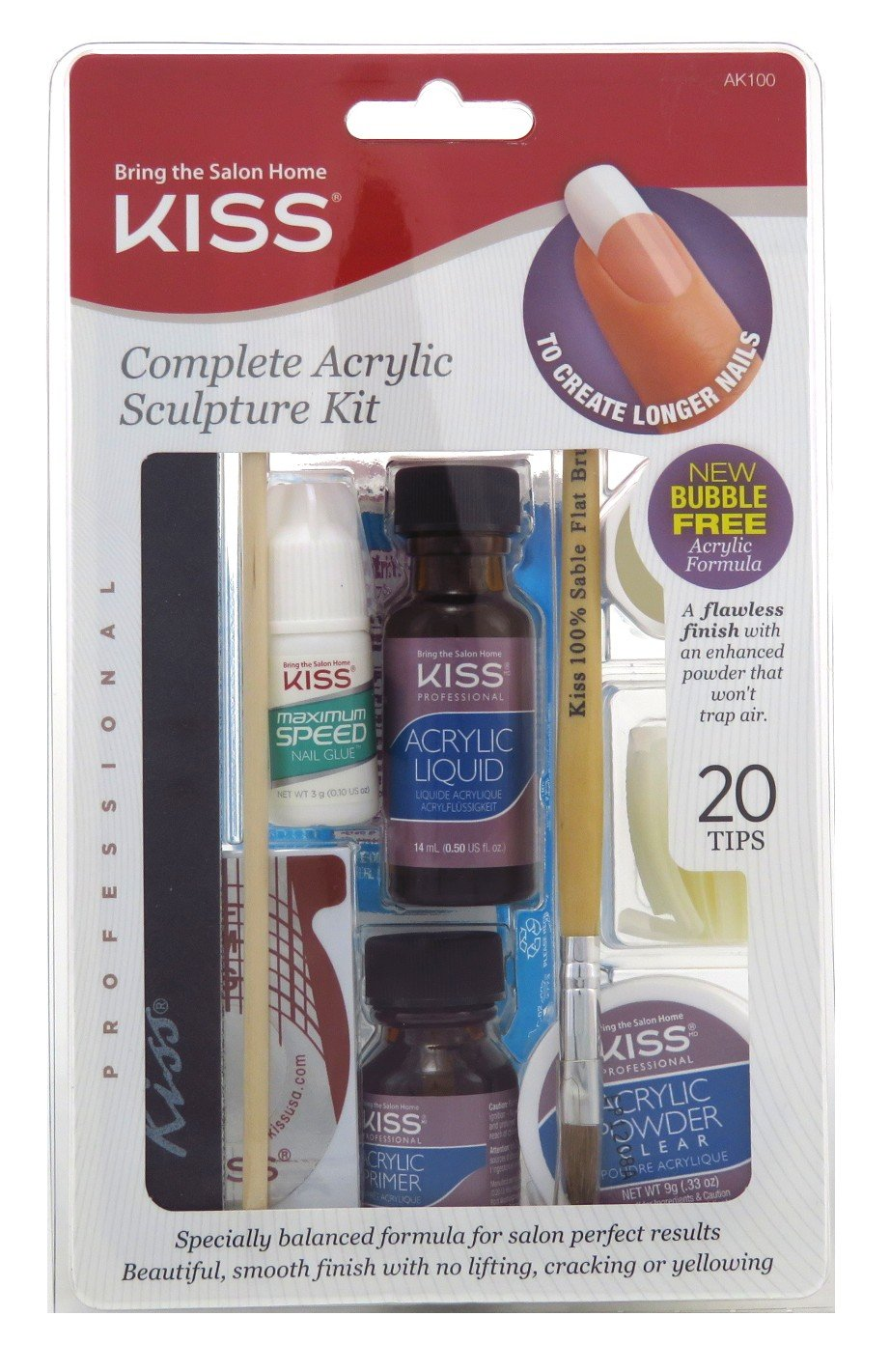 Kiss Complete Acrylic Sculpture Kit (6 Pack)