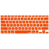 """Kuzy - ORANGE Keyboard Cover Silicone Skin for MacBook Pro 13"""" 15"""" 17"""" (with or w/out Retina Display) iMac and MacBook Air 13"""" - Orange"""