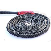 Zweep Zwarte Zweep 1-6M Lang Premium Premium Handgemaakte Echt Lederen Bullwhip Bull Whip Gevlochten Staarten Rijden…