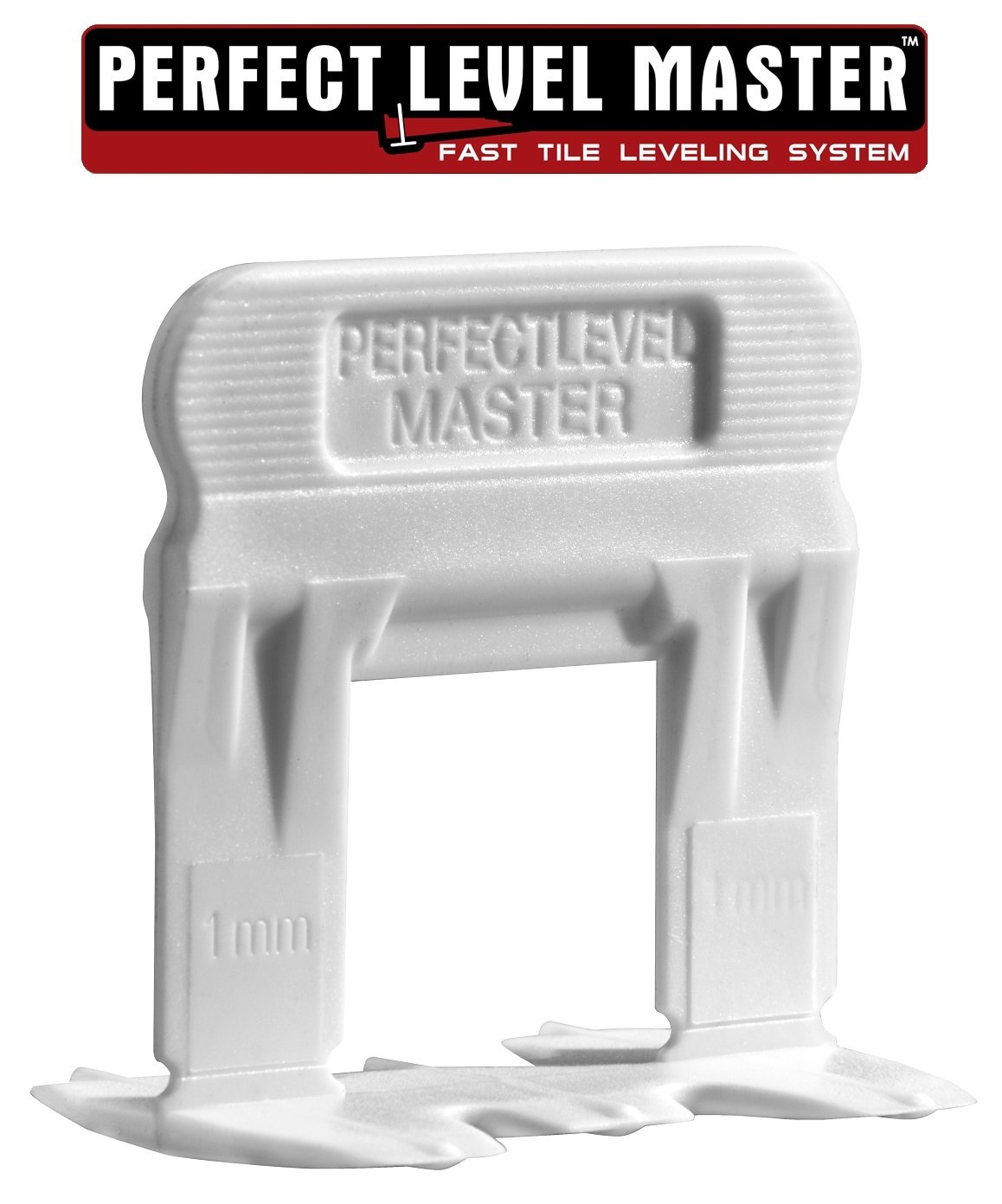 T-Lock ™ 1/32'' (1mm) 500 Clips '' PERFECT LEVEL MASTER ™ Professional '' Anti lippage '' Tile leveling system - (spacers only), Red wedges not included and sold separately!