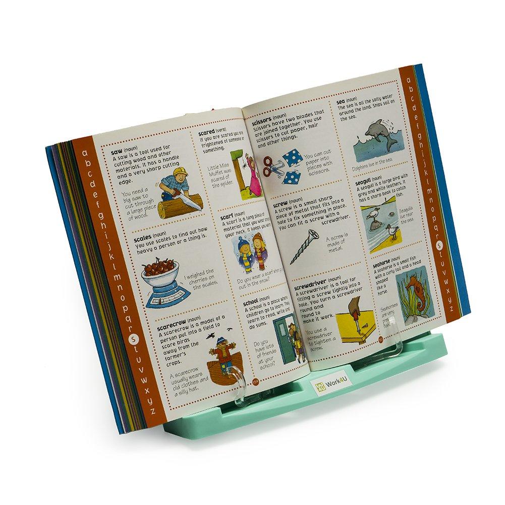 Work4U Atril para documentos Color Verde Soporte para lectura