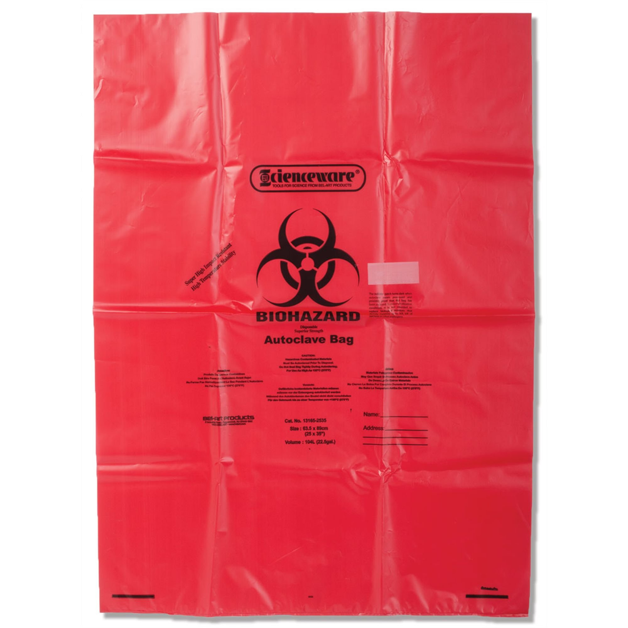 Super Strong Biohazard Infectious Waste Disposal Bags 2mil thick 31''W x 38''H