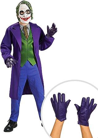 Desconocido Kit de disfraz de Joker para niños, grande con guantes ...