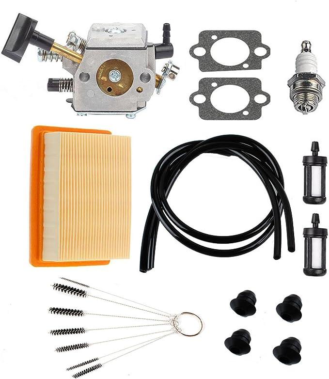 Kaymon 42030071028 BR320 Air Filter for Stihl BR340 BR380 BR400 BR420 BR420C SR320 SR340 SR380 SR400 SR420 Back Blower Fuel Filter Spark Plug Tune Up Kit
