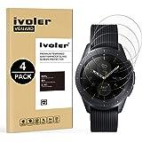VGUARD [4-Unidades] Protector de Pantalla Samsung Galaxy Watch 42mm, Cristal Vidrio Templado Premium para Samsung Galaxy Watch 42mm [9H Dureza] [Alta Definicion 0.2mm] [2.5D Round Edge]