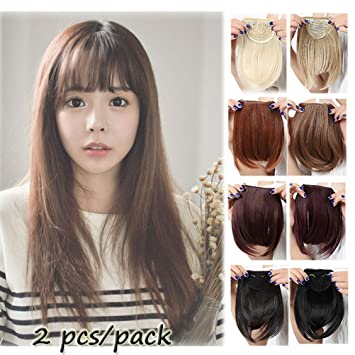 Amazon Com Lay Fashion Thick 8 20cm Bangs Clip In Hair