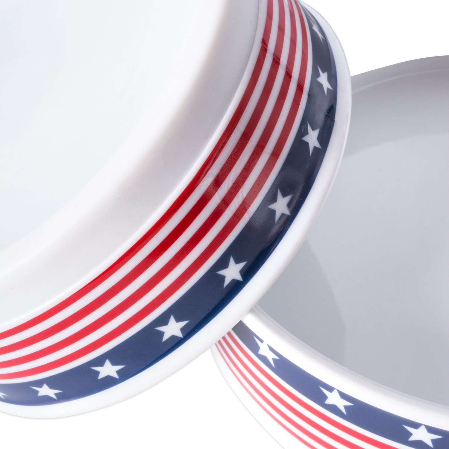 Bone Dry DII Patriotic Ceramic Pet Bowl for Food & Water with Non-Skid Silicone Rim for Dogs and Cats (Large - 7.5'' Dia x 4'' H) Stars and Stripes by Bone Dry (Image #3)