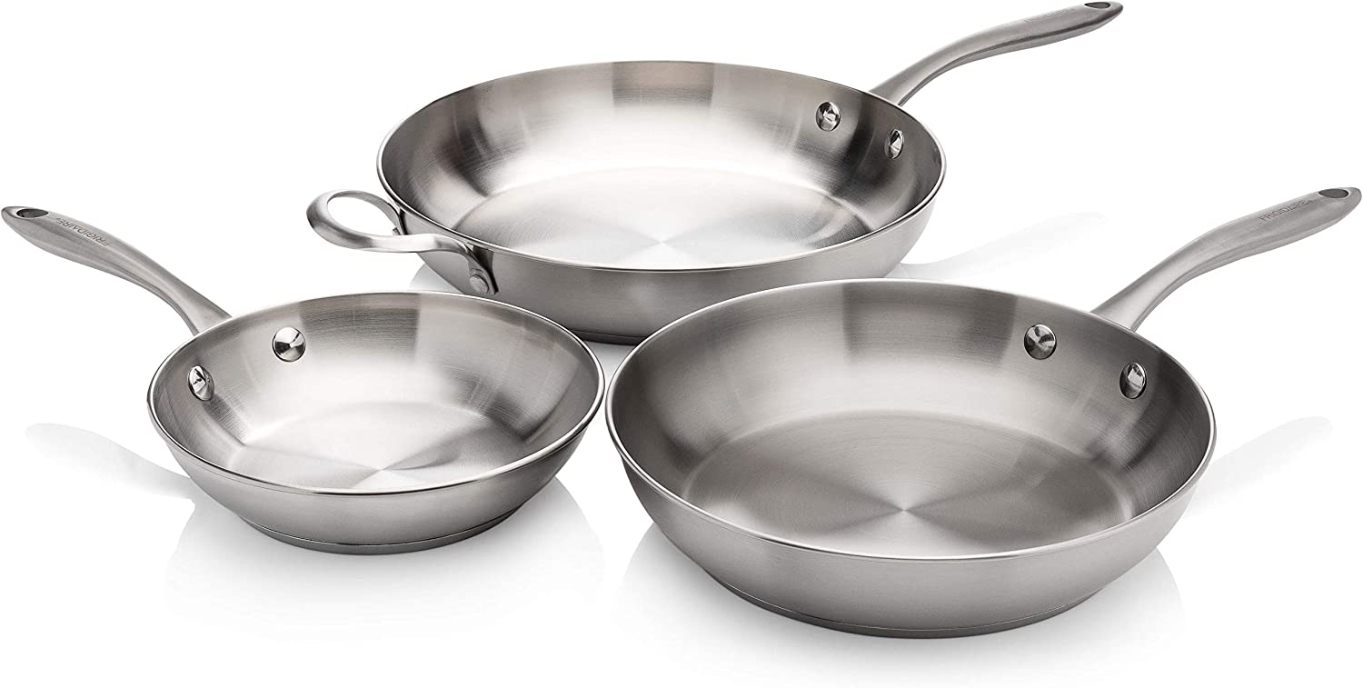 Frigidaire 11FFSPAN15 ReadyCook Cookware, 3-piece, Stainless Steel, 3 Pieces