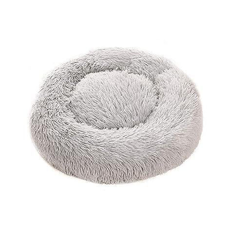 PETCUTE Cama para Gatos Donut Cama para Perros pequeños medianos cojín de Gato Lavable Suaves Cama para Mascotas cálida
