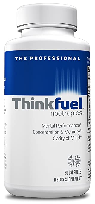 Thinkfuel For Professionals | Nootropic - Dopamine Stack to Boost Mental Clarity, Concentration & Focus