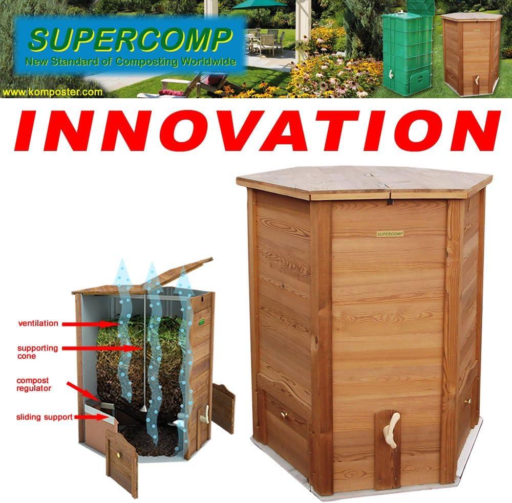 Vermicompostador de madera Supercomp - jardín compostera - sin ...