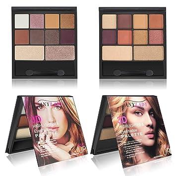 Eyeshadow Matte Shimmer Glitter Eye Shadow Palette with Brush and Mirror eeadcdd71139