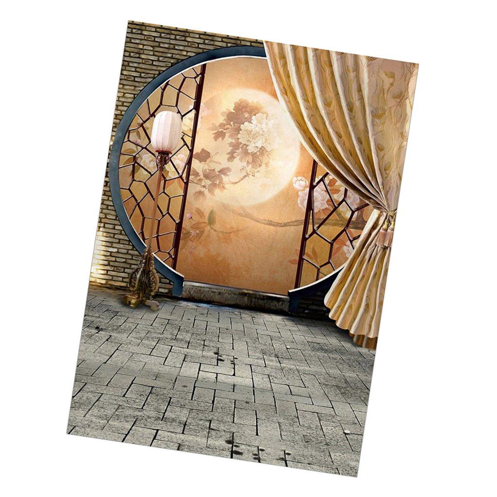 MagiDeal 60 x 120 cmインドア1 / 6人形写真アクセサリーバックドロップ景色背景中国スタイル   B07FTY6PPT