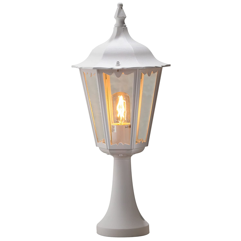 Konstsmide 7214-750 Basic Firenze Pedestal Post Light / Matt Black