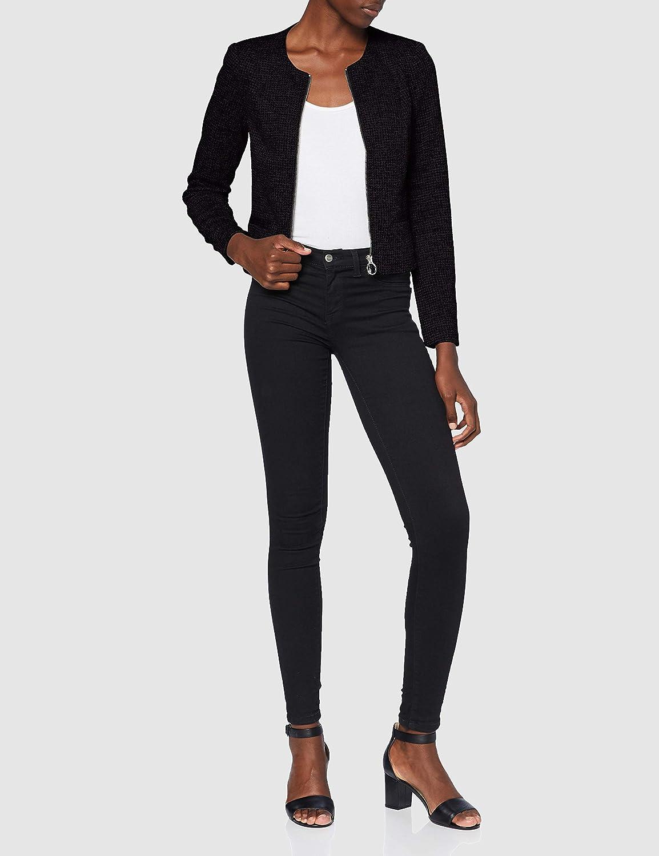 Vero Moda Vmcheck LS Zip Short Blazer Boo Donna