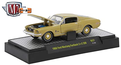 Ford Mustang Fastback >> Amazon Com M2 Machines 1968 Ford Mustang Fastback 2 2 200 Sunlit