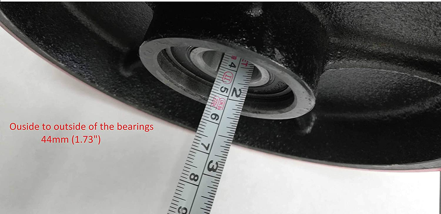 Steering Wheels 7x 2 Pair with Front Load Roller 2.75 x 3.75 Pair with Bearings ID 20mm Poly Tread Red with Entry Exit Roller and Protective Caps Pallet Jack//Truck Full Set 8 pcs
