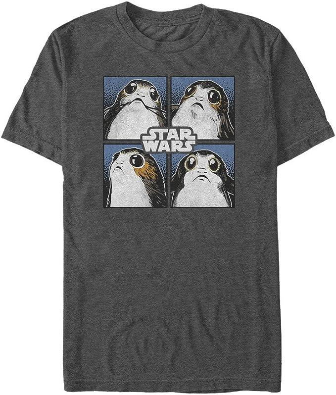 Star Wars Herren Last Jedi Porg Graphic Tees Hemd Bekleidung