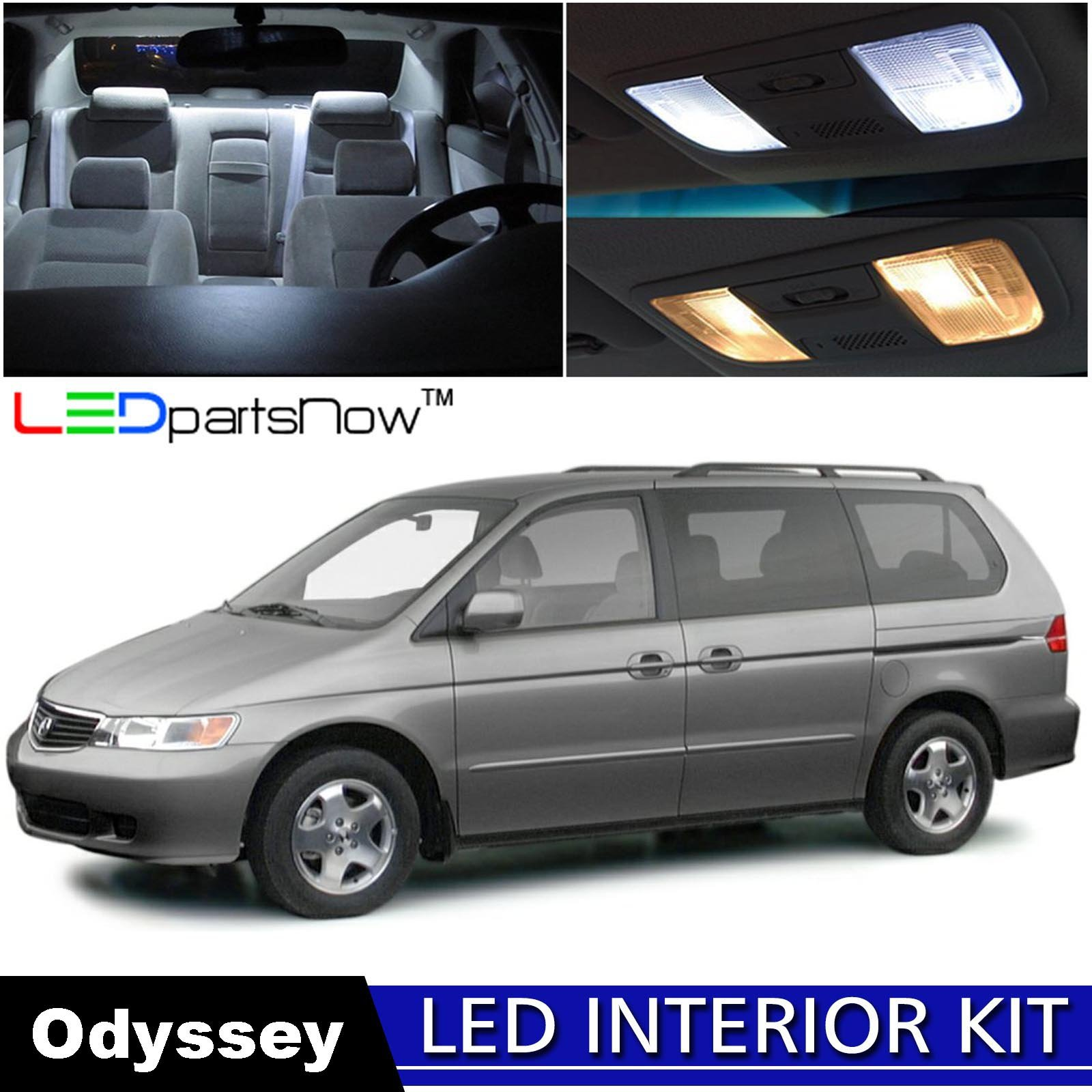 LEDpartsNow 1999-2004 Honda Odyssey LED Interior Lights Accessories Replacement Package Kit (13 Pieces), WHITE