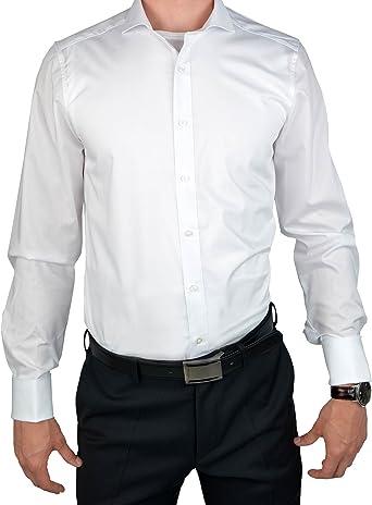 Camisa de manga larga para hombre OLYMP Extralang Body Fit Blanco 41: Amazon.es: Ropa y accesorios