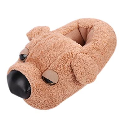 7-11 US Women/5-9 US Men Shoes Slippers Cute Cartoon Dog Slippers Foot Warmers Plush Closed Toe Footwear | Slippers