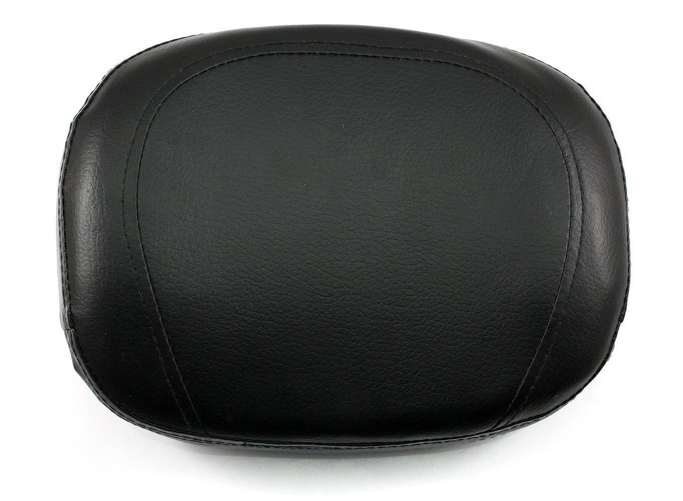 NEVERLAND Universal Black Backrest Cushion Pad for Harley Honda Kawasaki Suzuki Yamaha