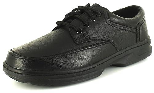 Croft Originals Zapatos comfort informal cordones gris topo hombres negro 39-45 - Negro, Sintético, 43