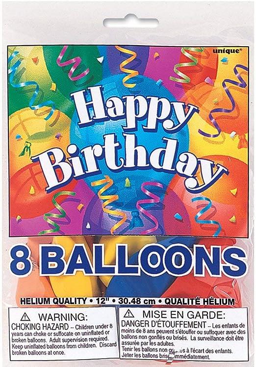 Amazon.com: Cumpleaños perfecto., Globos de látex, 12 ...