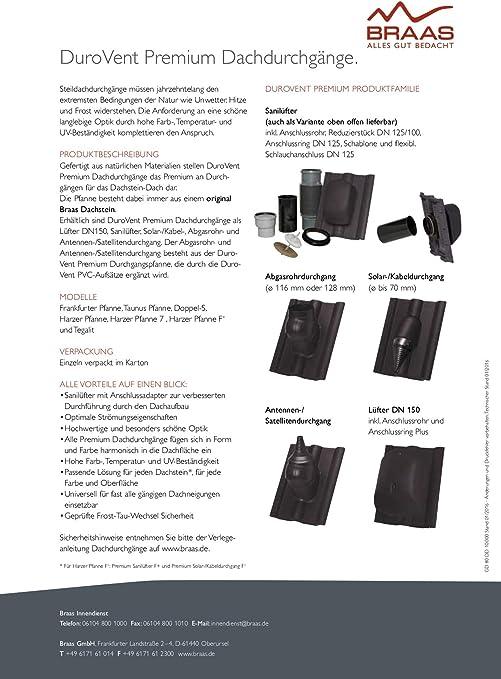 Braas DuroVent - Tapa para tubo superior (DN 125): Amazon.es ...