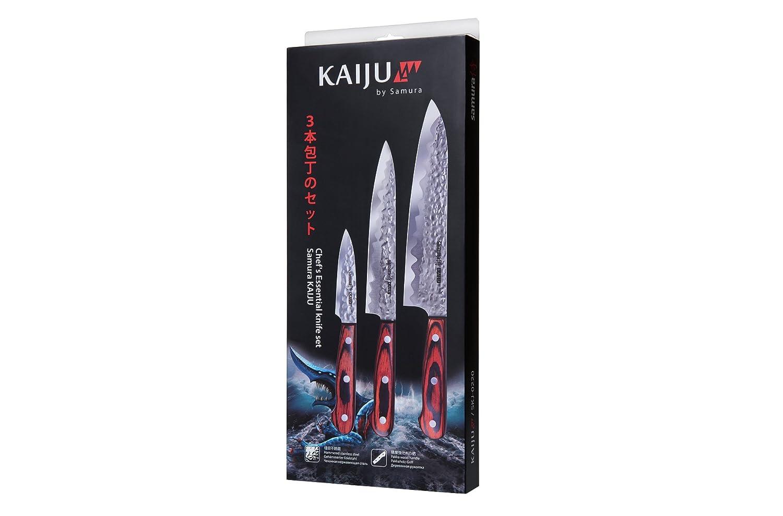 Samura Kaiju - Profesional Japonés Cuchillo -3 piezas 78mm ...