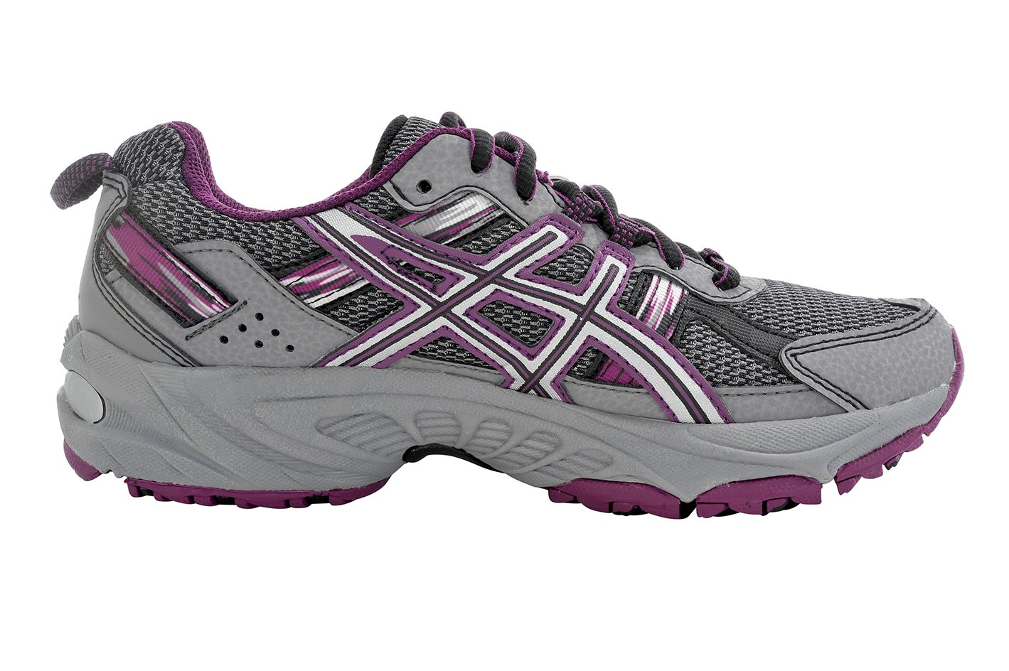 ASICS Women's Gel-Venture 5 Trail Running Shoe, Frost Gray/Gray/Silver/Magenta, 6 M US by ASICS (Image #4)