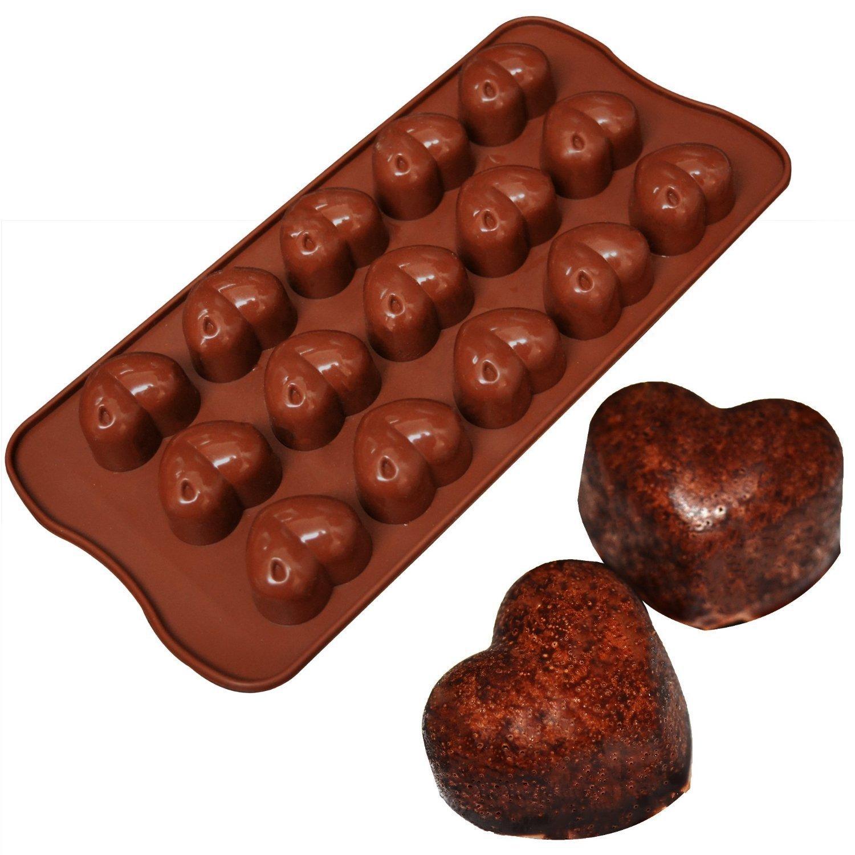 lumanuby 15 Forma de Corazón Silicona clásico Formas Fur Hielo, Chocolate, tartas, jalea, de forma de dulces mini formas de postre: Amazon.es: Hogar