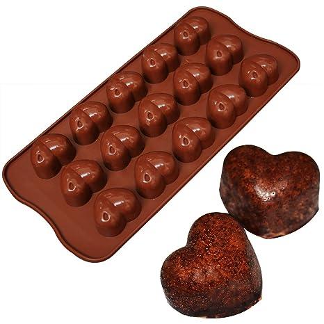 lumanuby 15 Forma de Corazón Silicona clásico Formas Fur Hielo, Chocolate, tartas, jalea