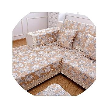 Amazon.com: Sofa Slipcover Jacquard Corner Sofa Cover Set ...