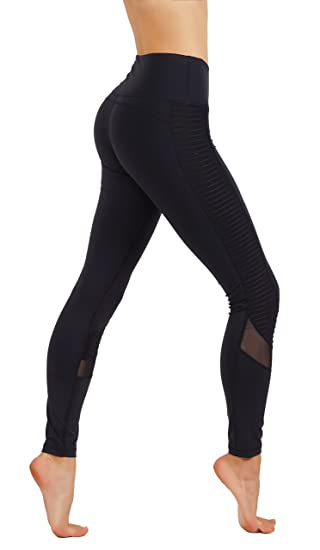 d6186705eb22f CodeFit Yoga Pants Dry-Fit Cut Out Mesh Panels Workout Leggings (XL USA  14-16, CF300-BLK: Amazon.co.uk: Clothing