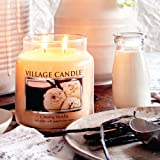 Village Candle Creamy Vanilla 16 oz Glass Jar