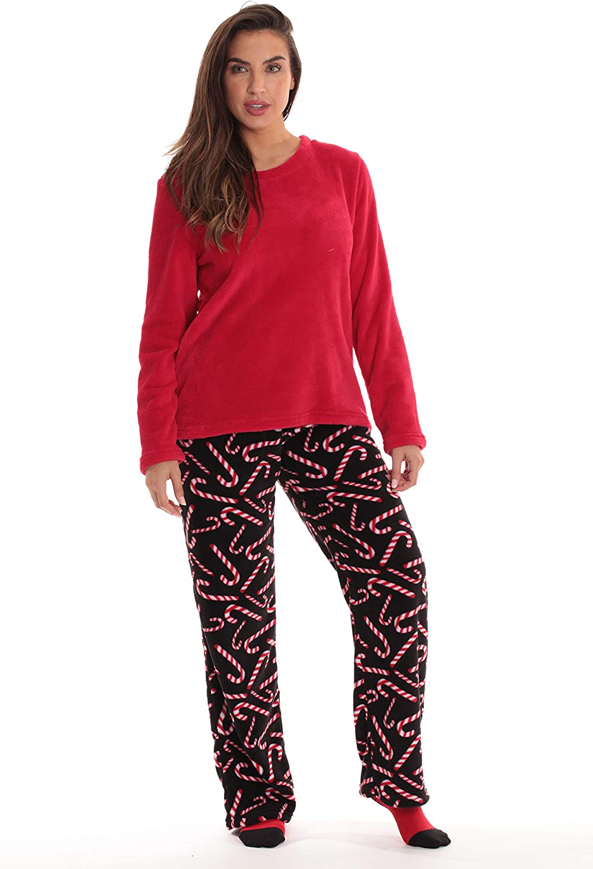 Family Pajamas Microfleece Wom Candy Cane Womens 3X Sleepwear