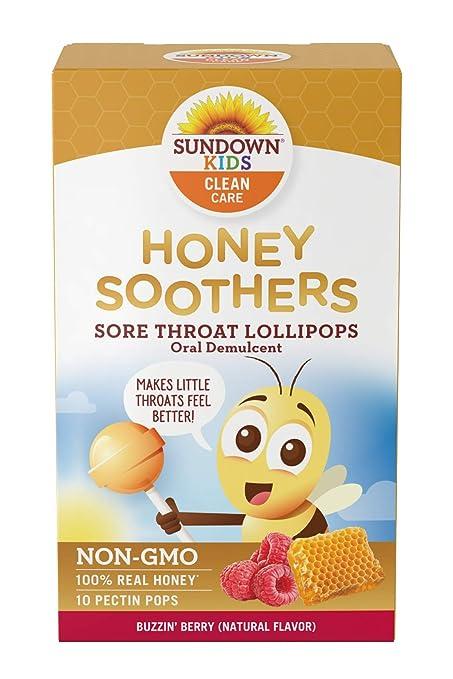Amazon.com: Sundown Kids Honey Soother Sore Throat Lollipops ...
