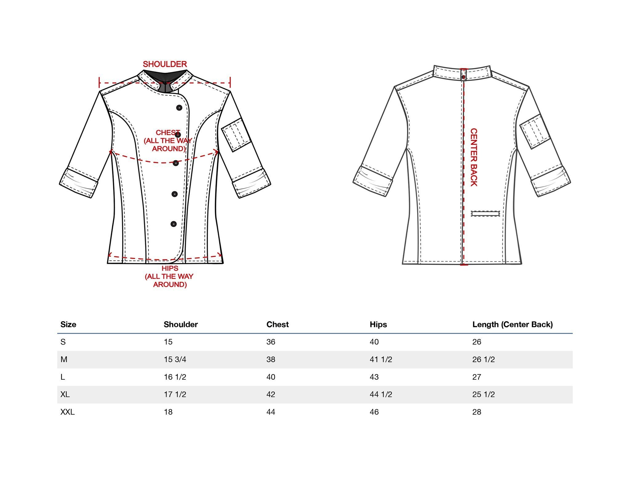 Crew Apparel Women's Chef Coat The Stephany Made In America (X-Large, Navy) by Crew Apparel (Image #5)